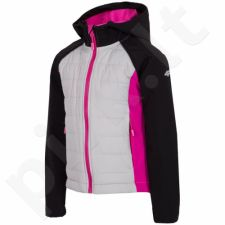 Striukė Softshell 4f Kids J4L17-JSFD100 juoda-rožinės spalvos