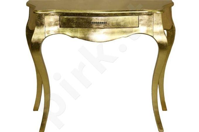 Aukso spalvos staliukas 87x104x38cm