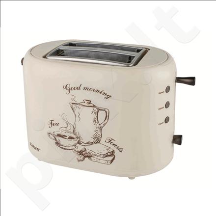 Scarlett SC-TM11001 Toaster, 2 slices, 7 settings timer, Cool touch plastic housing