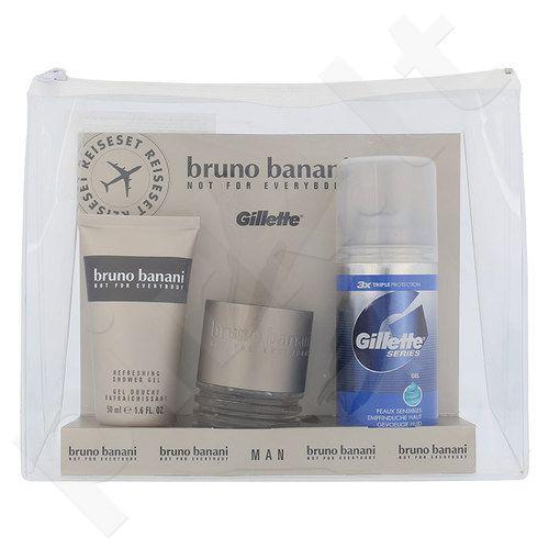 Bruno Banani Man rinkinys vyrams, (EDT 30ml + 50ml dušo želė + 75ml skutimosi želė Gillette Series)