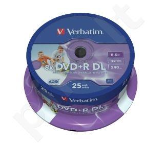 DVD+R DL Verbatim [ cake box 25 | 8.5GB | 8x| spausdinimui ]