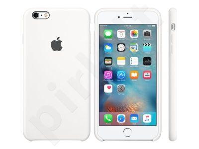 Apple iPhone 6S+ silikoninis dėklas baltas