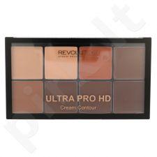 Makeup Revolution London Ultra Pro HD kreminė kontūravimo paletė, kosmetika moterims, 20g, (Medium Dark)