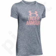 Marškinėliai treniruotėms Under Armour Tech Crew-Graphic Twist W 1298411-076