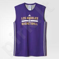 Marškinėliai krepšiniui dvipusiai  Adidas LA Lakers M AA7947