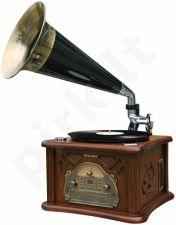 Retro stiliaus muzikinė sistema su patefonu Roadstar HIF-1850TUMPK