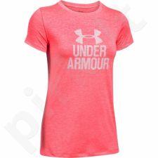 Marškinėliai treniruotėms Under Armour Tech Crew-Graphic Twist W 1298411-963