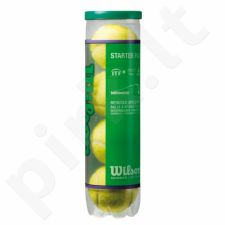 Teniso kamuoliukai Wilson Starter Play Green Junior (4 vnt)