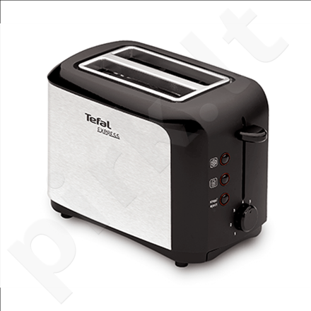 TEFAL TT356110 Toaster, 7 control levels, Safe to touch walls, Crumb tray, Power 850W, Black-silver