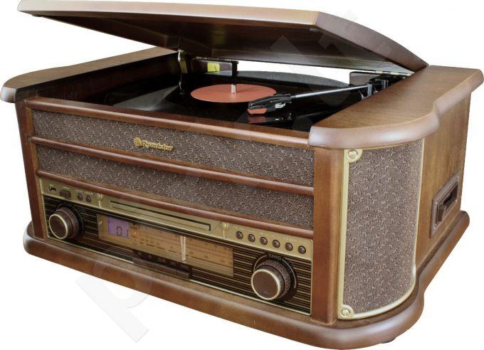Retro stiliaus muzikinė sistema su patefonu Roadstar HIF-1893TUMPK