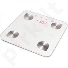 Svarstyklės Caso Maksimalus svoris (talpa) 150 kg, Tikslumas 100 g, Atminties funkcija, 4 naudotojas(-ai), White