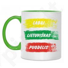 Labai lietuviškas puodelis