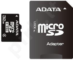 Atminties kortelė Adata microSDHC 32GB CL4 + Adapteris