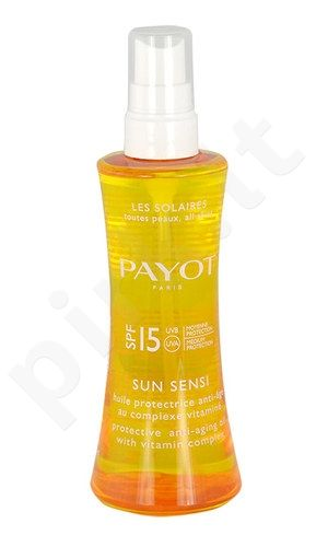 Payot Les Solaries Sun Sensi Oil purškiklis SPF15, kosmetika moterims ir vyrams, 125ml