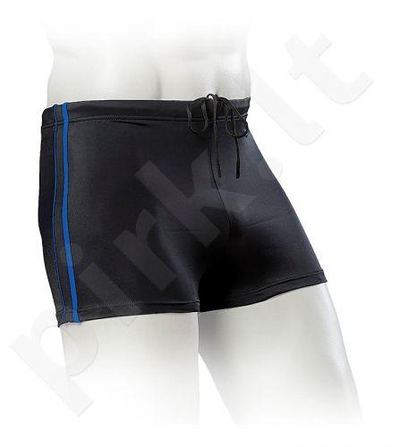 Maudymosi glaudės boxer vyrams BASIC 24008 01 6 black/bl