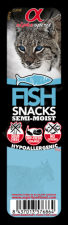 Alpha Spirit Cat Fish Snack (Žuvis) kubeliai, 35gr