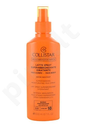 Collistar Superdrėkinamasis įdegio pienelis purškiklis SPF 10, kosmetika moterims, 200ml