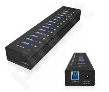 Icy Box 13 Port USB 3.0 Hub with USB charge port, Black