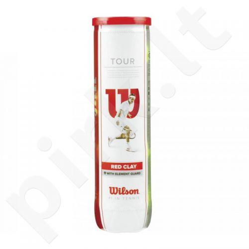 Teniso kamuoliukai Wilson Tour Clay Red (4 vnt)