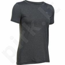 Marškinėliai treniruotėms Under Armour HeatGear Short Sleeve W 1285637-090