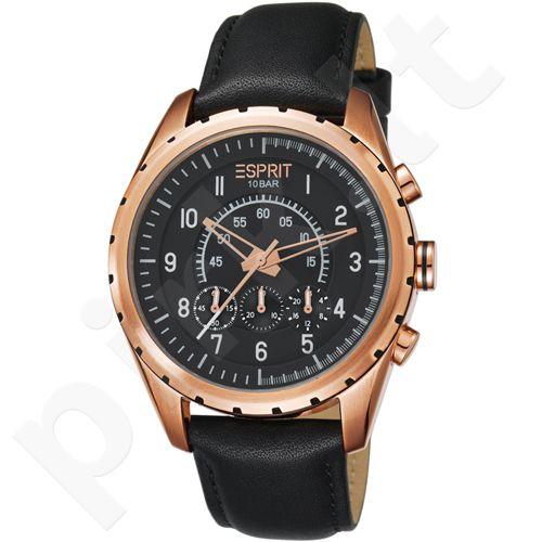 Esprit ES105351004 Colossal Chrono Rose Gold Black vyriškas laikrodis-chronometras