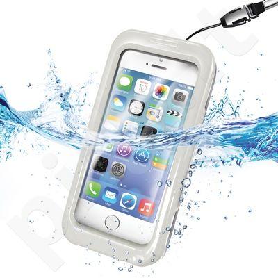 WATERPROOF universalus dėklas iPhone 5 Celly baltas