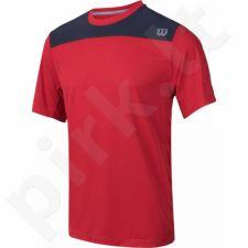 Marškinėliai tenisui WILSON KNIT STRETCH WOVEN CREW M WRA736203