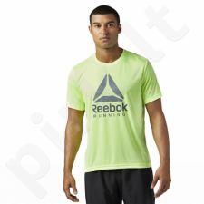Marškinėliai treniruotėms Reebok Run Graphic Tee M BR4414
