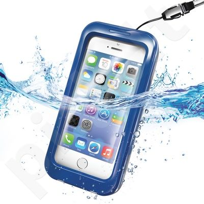 WATERPROOF universalus dėklas iPhone 5 Celly mėlynas