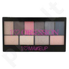 Makeup Revolution London I Love Makeup I Heart Obsession akių šešėlių paletė, kosmetika moterims, 17g, (Paris)