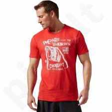 Marškinėliai treniruotėms Reebok RCF Morning Breath Bear Tee M AY1033