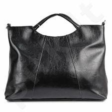 DAN-A T59 juoda rankinė iš natūralios odos , moteriška