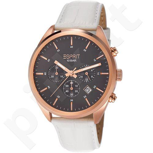 Esprit ES106261004 Glendale Rose Gold White vyriškas laikrodis-chronometras