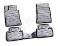 Guminiai kilimėliai 3D HYUNDAI Genesis Coupe 2009->, 4 pcs. /L27026G /gray