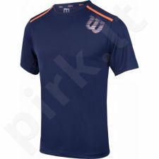 Marškinėliai tenisui Wilson Linear Blur Print Crew M WRA730701
