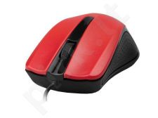 Gembird Optical mouse 1200 DPI, USB, black-red