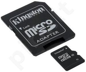 Atminties kortelė Kingston microSDHC 32GB CL10 + Adapteris