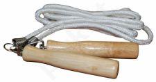 Šokdynė su suktuku ir medinėmis rankenomis, virvin