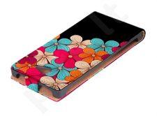 Sony Xperia Z1 dėklas FLOWERS Ego juodas