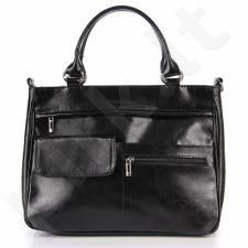 DAN-A T88 juoda rankinė iš natūralios odos , moteriška