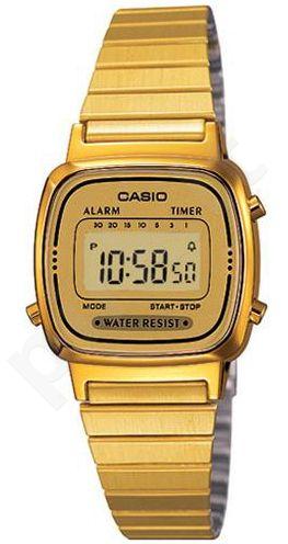Laikrodis CASIO   LA-670WG-9 Vintage chronografas,  , Timer, wr 30  **ORIGINAL BOX**