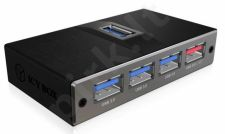 Icy Box 7x Port USB 3.0 Hub with 2x Fast charge Ports, Black
