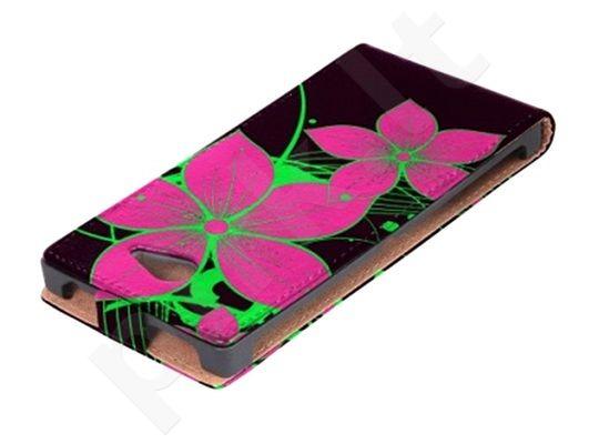 Sony Xperia Z1 dėklas FLOWER Ego juodas