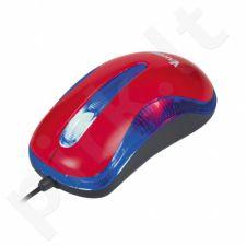 Optinė pelė Vakoss USB 1200dpi TM-420UR Raudona