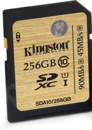 Atminties kortelė Kingston Ultimate SDXC 256GB CL10 UHS1, 90/45MBs