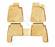 Guminiai kilimėliai 3D HYUNDAI Santa Fe 2006-2010, 4 pcs. /L27055B /beige