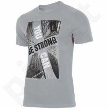 Marškinėliai 4f M H4L18-TSM022 pilkas