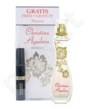 Christina Aguilera Woman rinkinys moterims, (EDP 30ml + 5,3ml blakstienų tušas Max Factor Masterpiece)