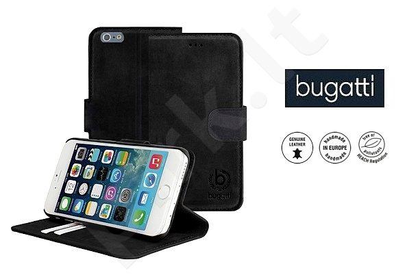 Apple iPhone 6/6S atverčiamas dėklas MADRID Bugatti juodas