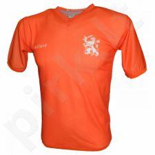 Marškinėliai futbolui Reda Holandia oranžinė